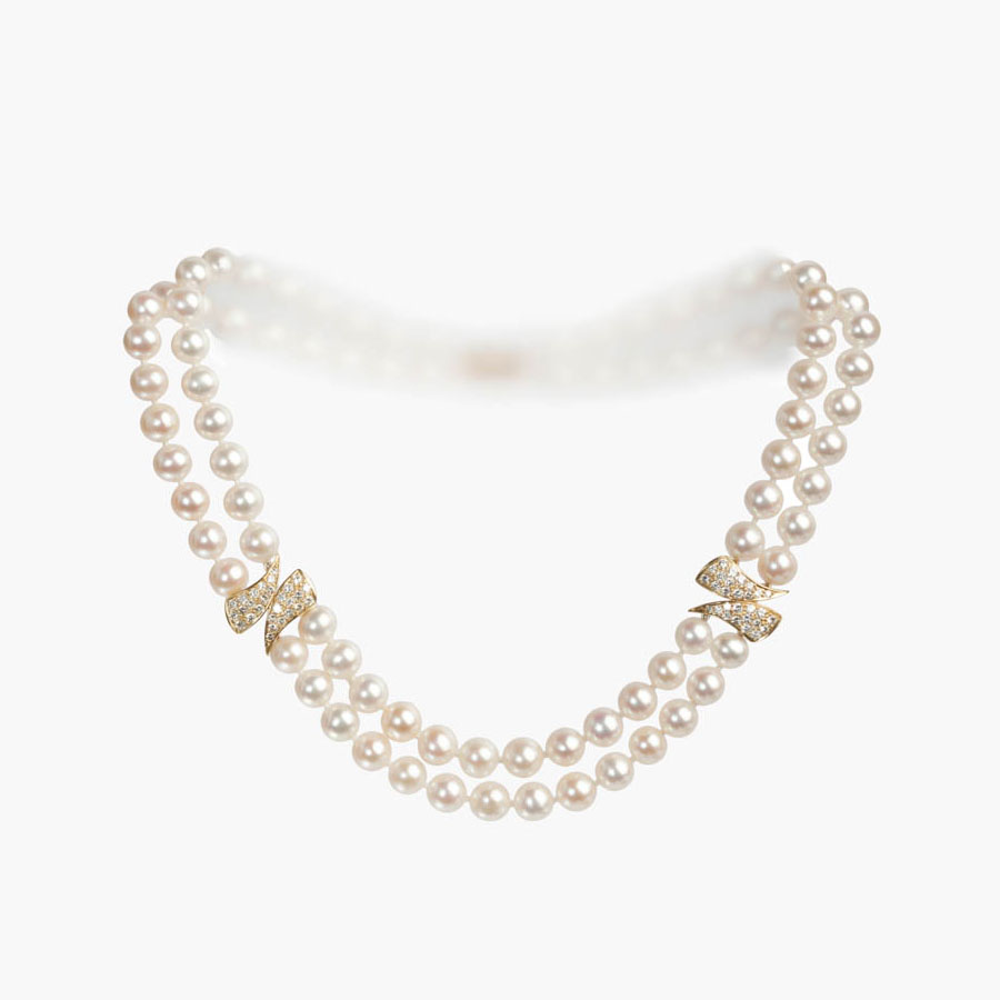 Double Strand, Cultured Pearl Necklace