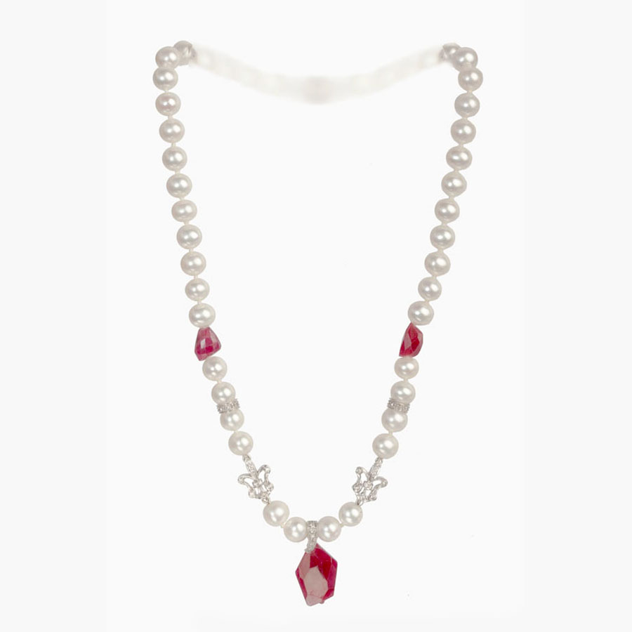 gleam the completely is natural design zircon p a flower excellent creating of each top ruby handmade ovals necklaces on piece jewels gemstone cluster with quality shape inches necklace